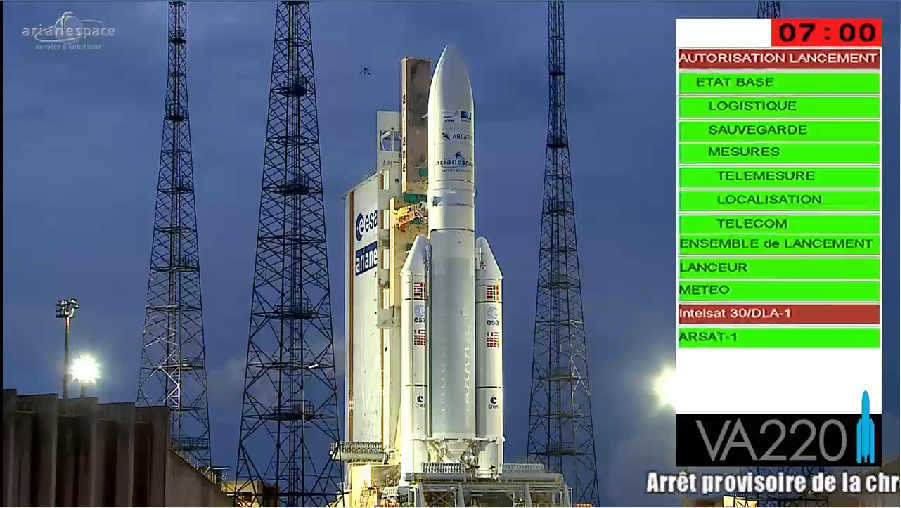 Lancement Ariane 5 VA220 / ISDLA-1 & ARSAT-1 / 16 octobre 2014 - Page 2 2014-10-16_23-23-24